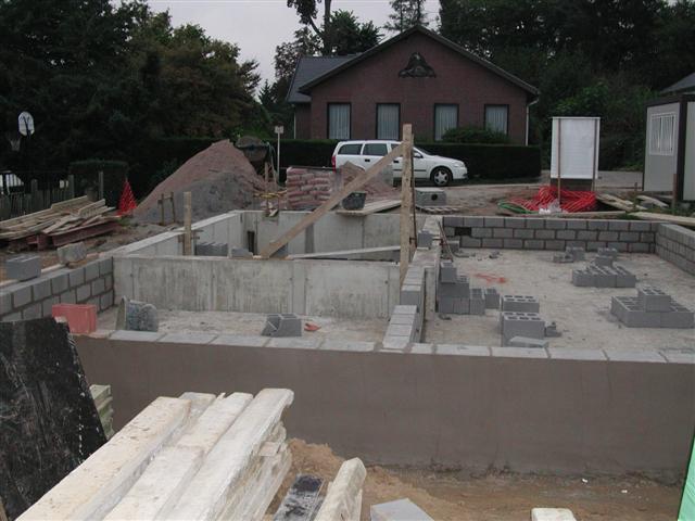 Het maken van de baksteen van het hydraulische cement concrete